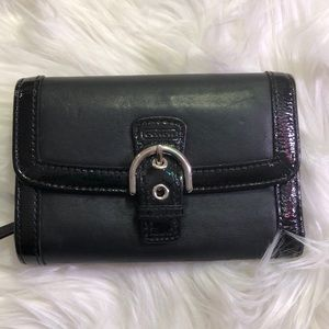 Coach Pat & Leather Wallet Good Condition